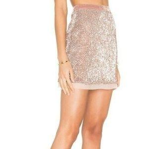 New Free People Mesh Sequin Wild Child Mini Skirt